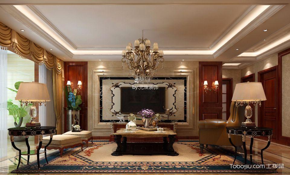 滨河岳秀149平米简欧风格三室两厅装修效果图