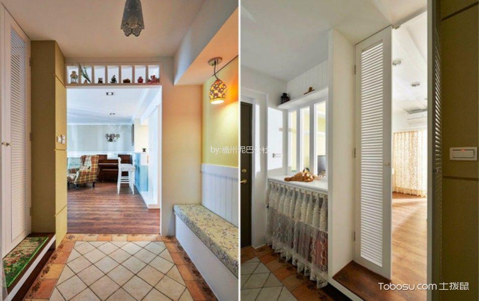 西湖好美家100平三室两厅美式装修风格效果图