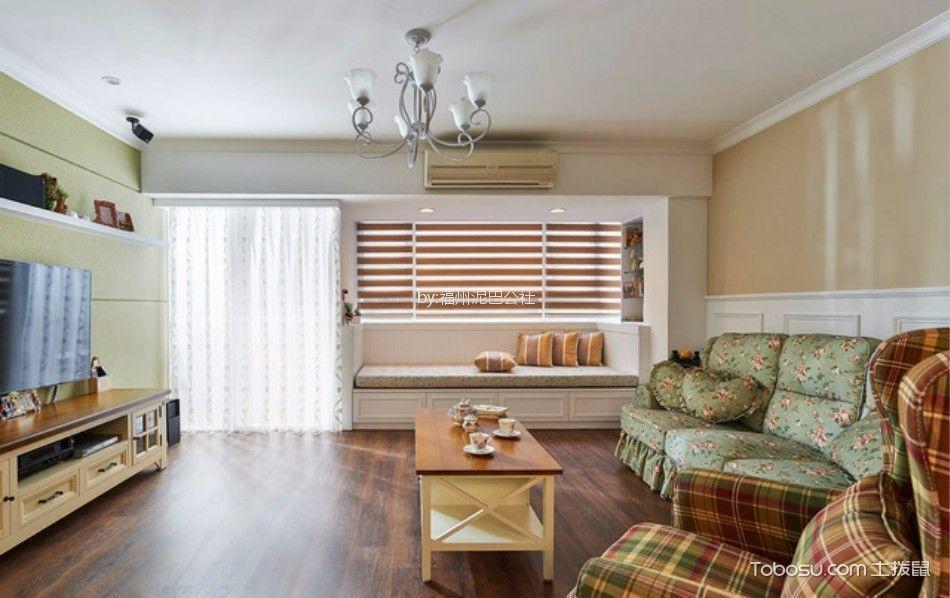 客厅 茶几_西湖好美家100平三室两厅美式装修风格效果图