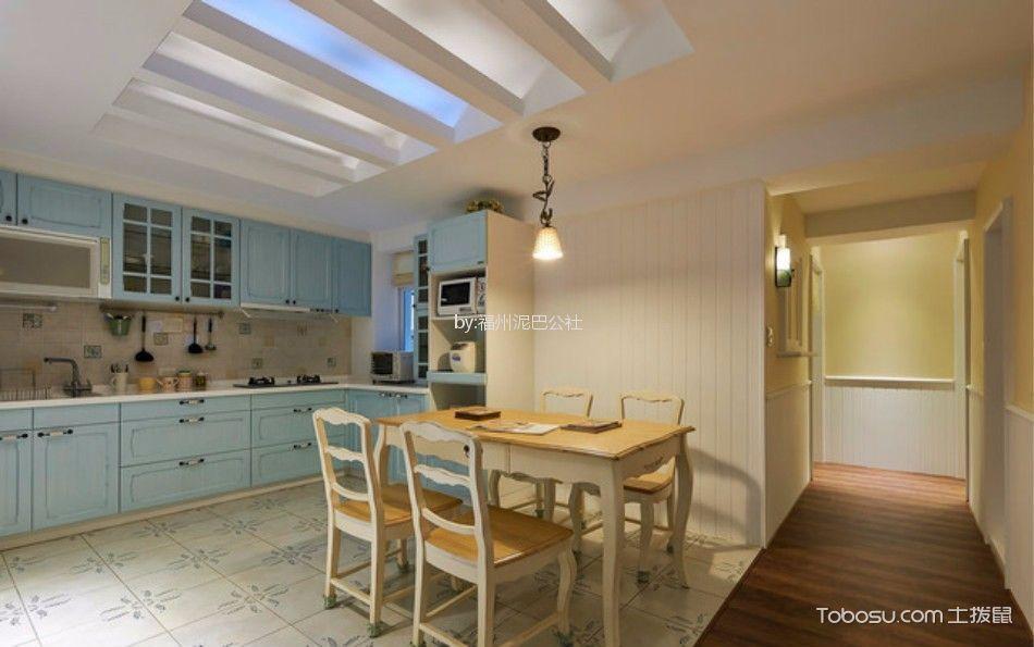 厨房 餐桌_西湖好美家100平三室两厅美式装修风格效果图