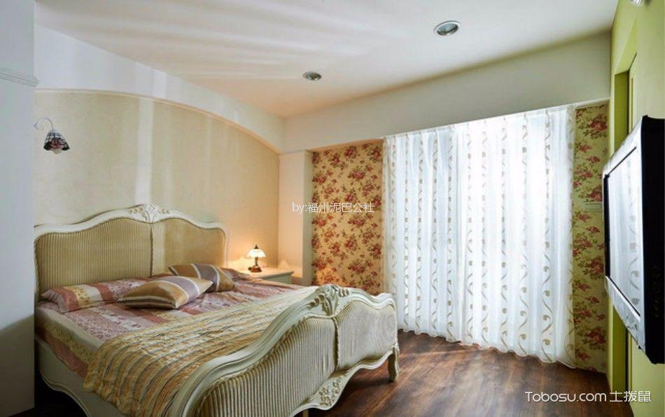 卧室 床_西湖好美家100平三室两厅美式装修风格效果图