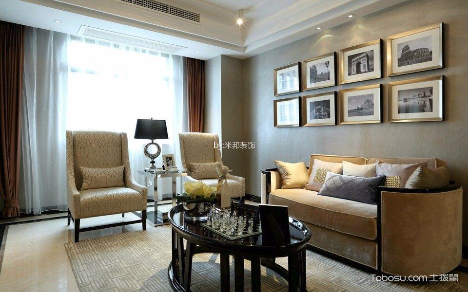 大名家园135平混搭风格三居室装修效果图