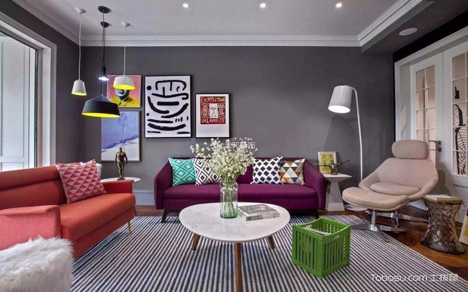 莱蒙城138平混搭风格三居室装修效果图