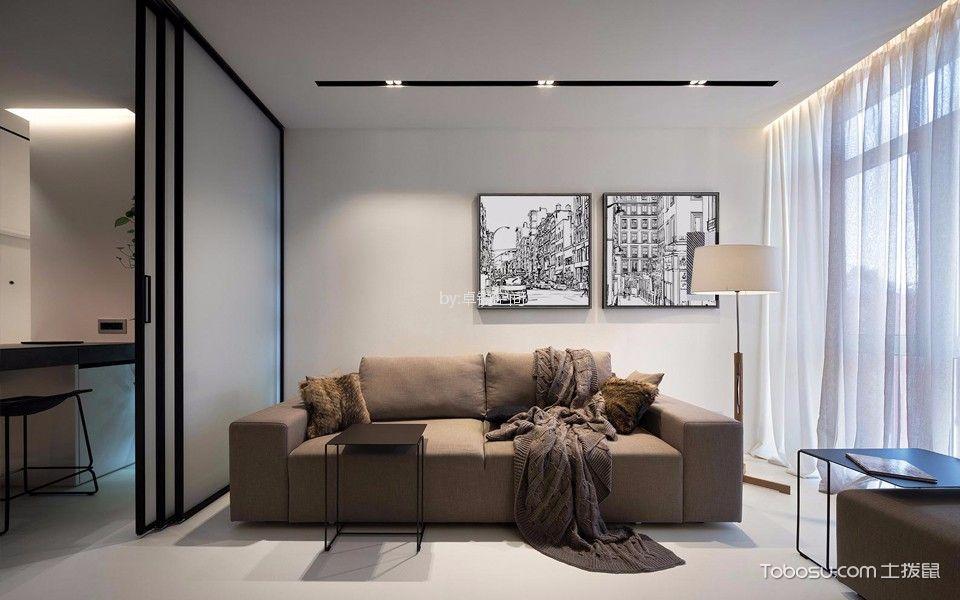 棕榈泉国际公寓118㎡公寓简约风格装修效果图