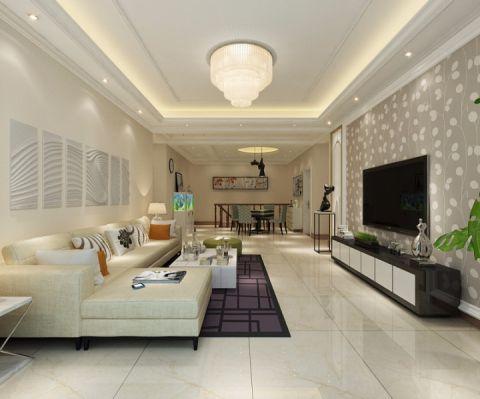赵县自建二层现代简约风格五室三厅装修效果图