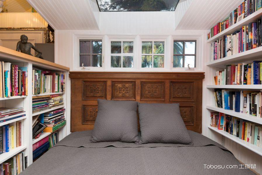 卧室白色书架混搭风格效果图