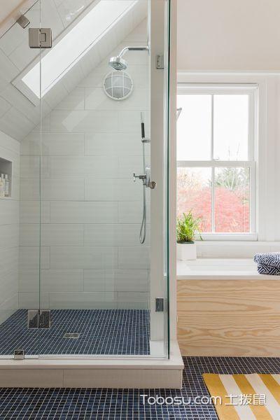 卫生间北欧风格效果图大全2017图片_土拨鼠优雅清新卫生间北欧风格装修设计效果图欣赏