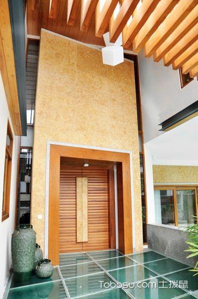 玄关咖啡色门厅现代风格效果图