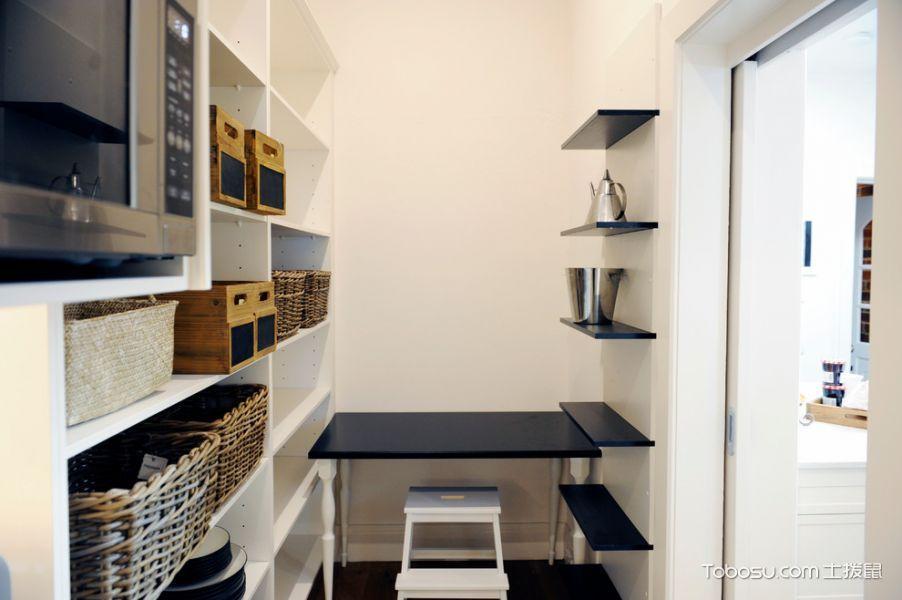 厨房白色背景墙简欧风格装修图片
