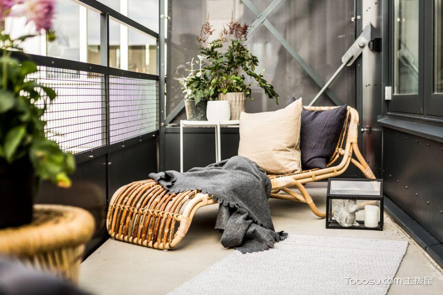 阳台咖啡色细节北欧风格装饰图片