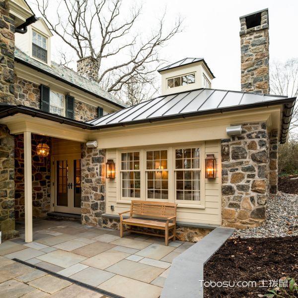 阳台咖啡色细节美式风格装潢设计图片