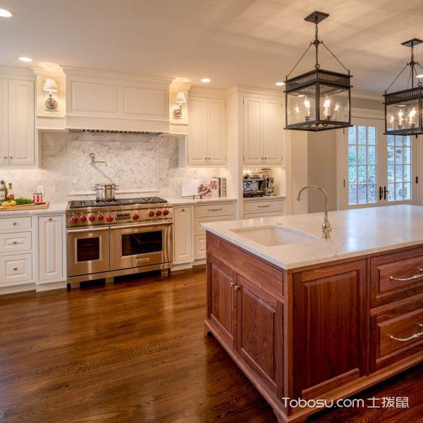 厨房白色细节美式风格装修图片