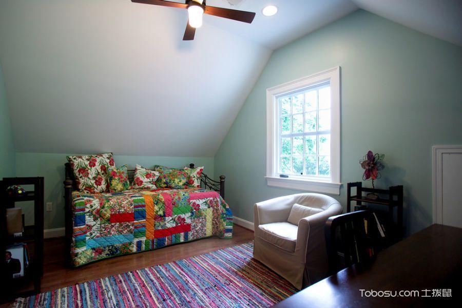 卧室白色细节美式风格装饰图片
