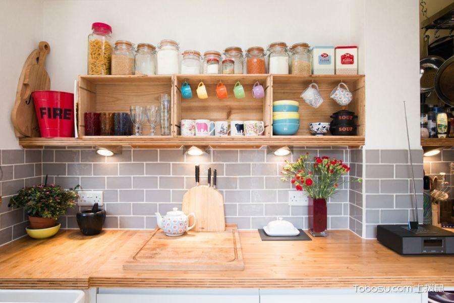 厨房白色细节混搭风格装修设计图片