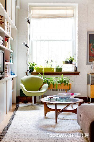 客厅白色窗台混搭风格装饰效果图