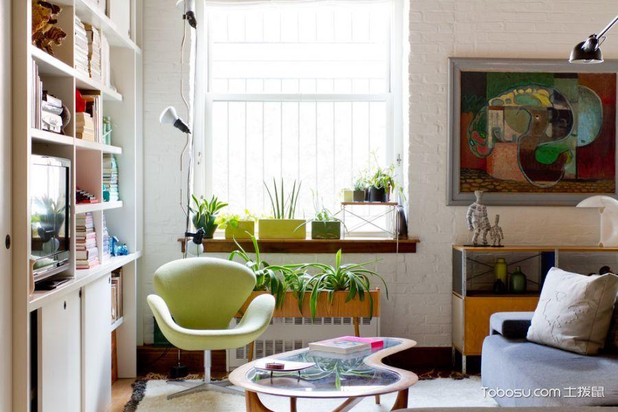 客厅白色窗台混搭风格装饰设计图片