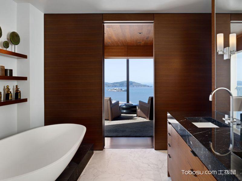 浴室咖啡色细节现代风格效果图