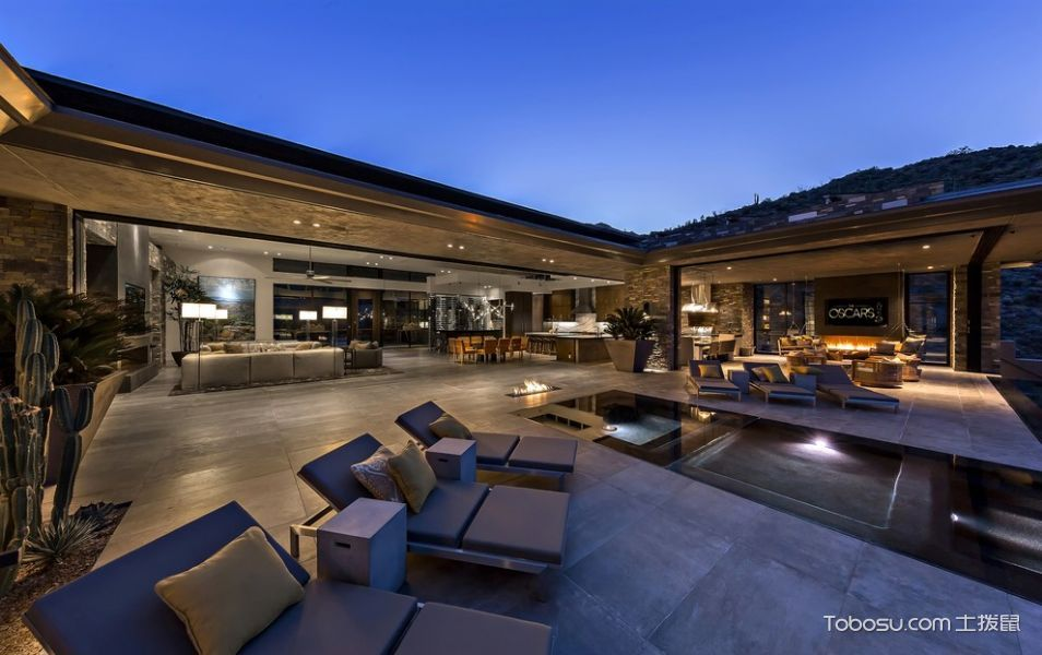 阳台咖啡色沙发现代风格装修效果图