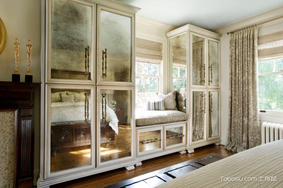 卧室白色衣柜简欧风格装饰图片