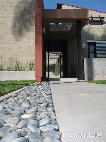 外景灰色走廊现代风格装修效果图