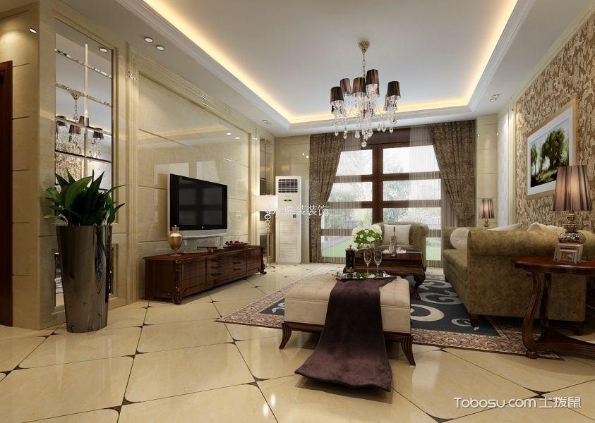 八十一号大院120平方20万混搭风格三居室装修效果图