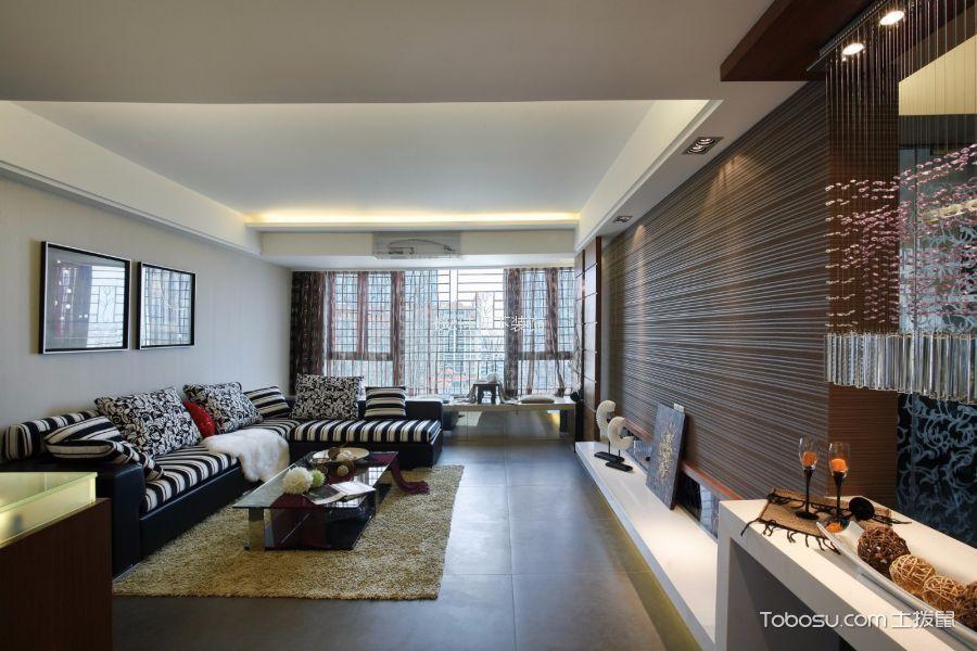 时光印象104平米现代简约风格三居室装修效果图