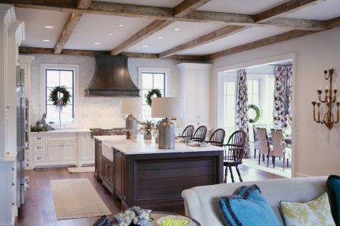 厨房厨房岛台美式风格装潢设计图片