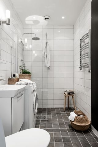 浴室背景墙北欧风格装饰设计图片