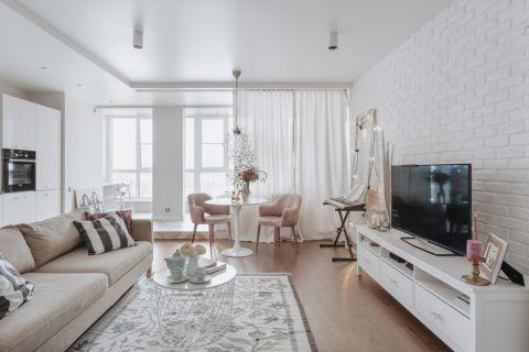 客厅北欧风格效果图大全2017图片_土拨鼠美感迷人客厅北欧风格装修设计效果图欣赏