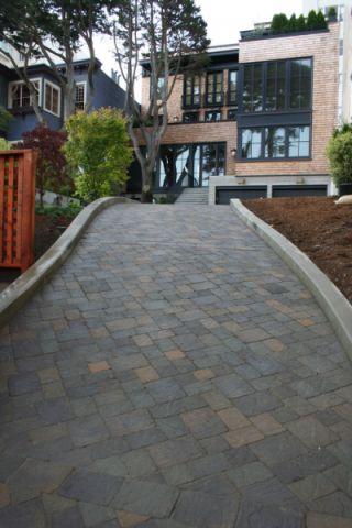 古朴花园地砖装潢效果图