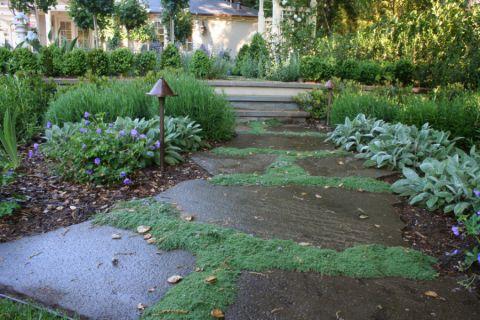 花园灰色地砖装修图片