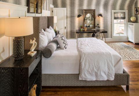 卧室美式风格效果图大全2017图片_土拨鼠个性质朴客厅美式风格装修设计效果图欣赏