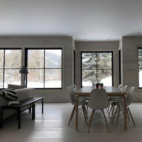 餐厅北欧风格效果图大全2017图片_土拨鼠现代雅致餐厅北欧风格装修设计效果图欣赏