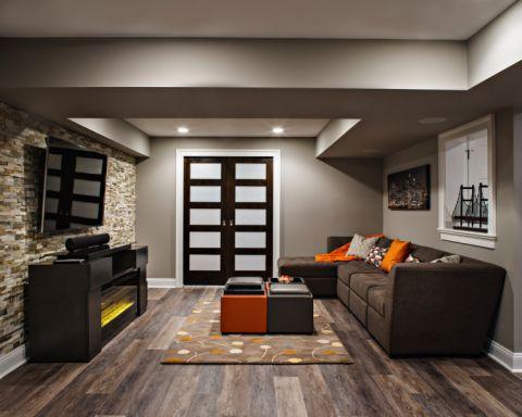 客厅现代风格效果图大全2017图片_土拨鼠美感时尚地下室现代风格装修设计效果图欣赏