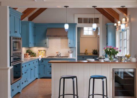 厨房混搭风格效果图大全2017图片_土拨鼠温暖自然厨房混搭风格装修设计效果图欣赏