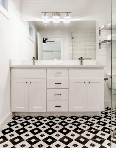 浴室白色细节北欧风格装潢设计图片