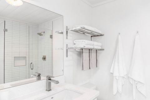 浴室灰色细节北欧风格效果图