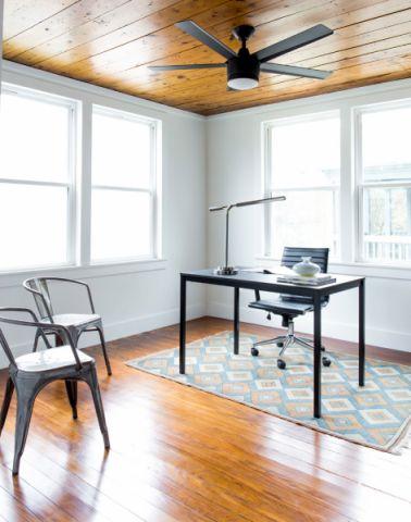 书房咖啡色地板砖北欧风格装修效果图
