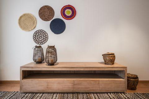 客厅咖啡色细节北欧风格装饰设计图片