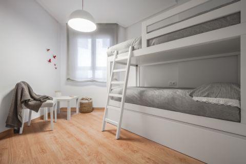 儿童房白色床北欧风格效果图