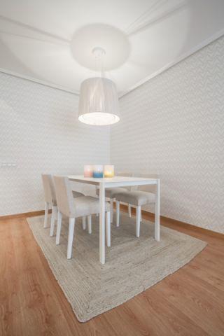 餐厅白色灯具北欧风格装饰效果图