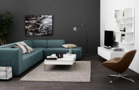 客厅白色茶几北欧风格装潢图片