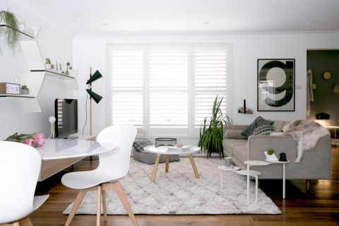 客厅白色细节北欧风格装潢设计图片