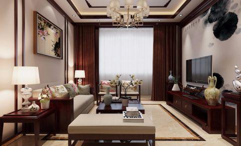 2019新中式100平米图片 2019新中式三居室u乐娱乐平台设计图片