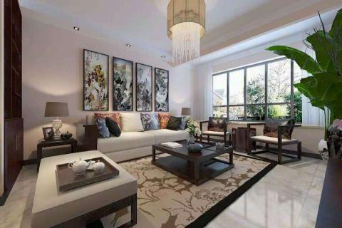中建锦绣城新中式风格120平米三居室装修效果图