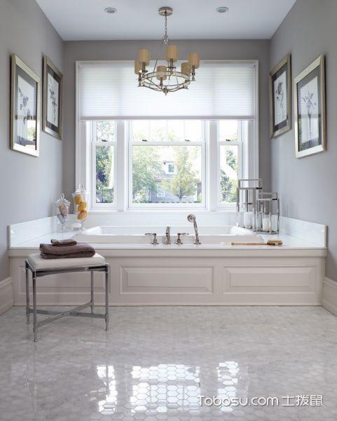 2018美式卫生间装修图片 2018美式浴缸装修设计