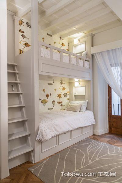 儿童房黄色背景墙混搭风格装饰效果图