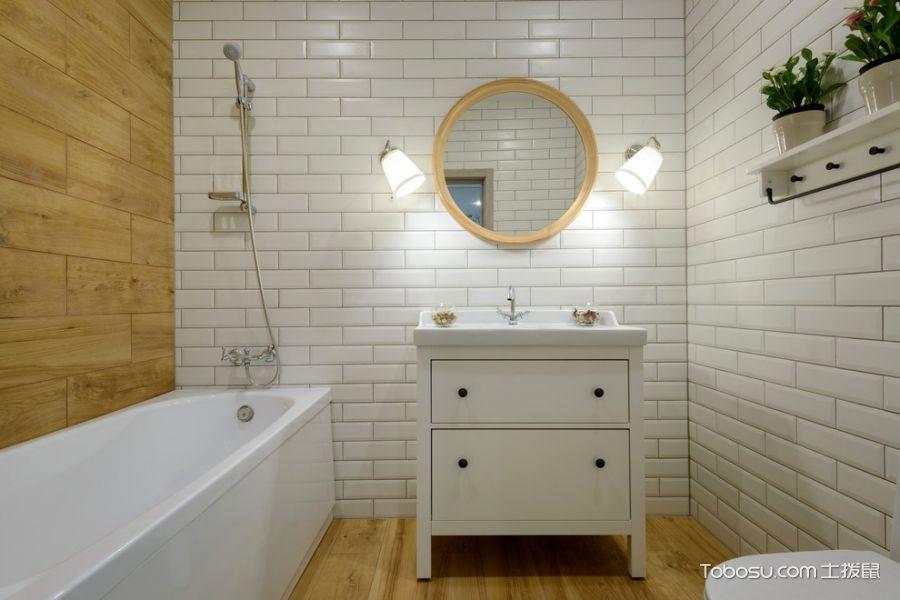 浴室北欧风格效果图大全2017图片_土拨鼠浪漫迷人浴室北欧风格装修设计效果图欣赏