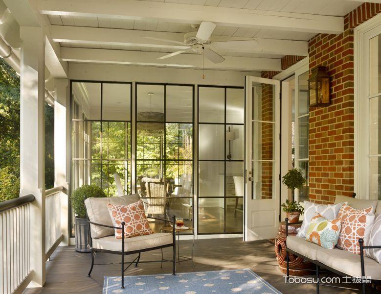 阳台米色沙发美式风格装饰效果图