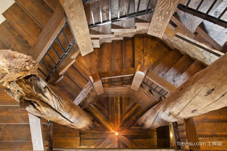 客厅咖啡色楼梯混搭风格装潢设计图片